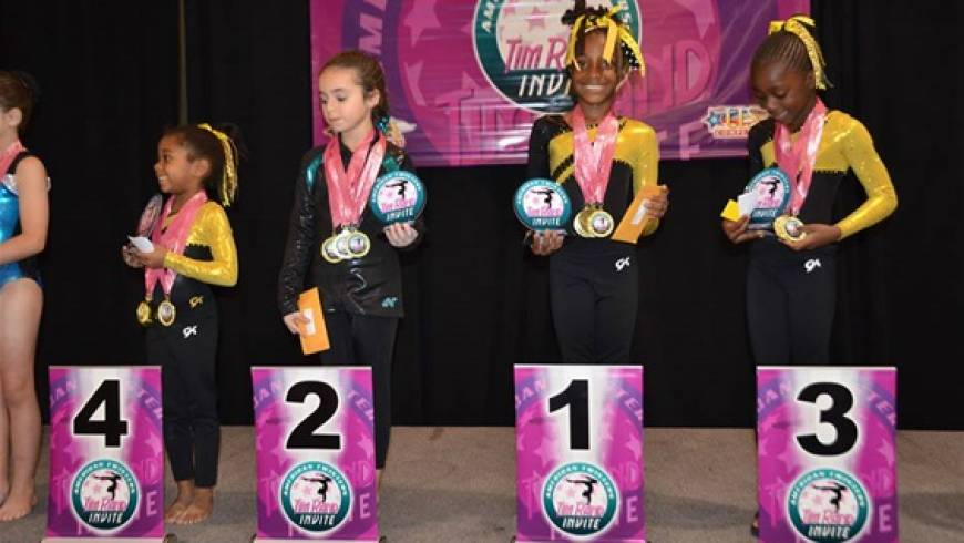 Star Gymnasts Set Number of New National Records